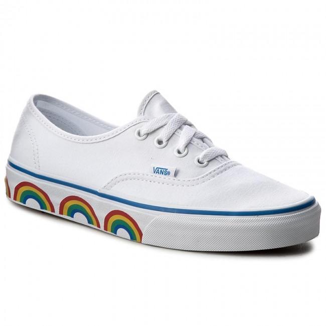 Plimsolls VANS Authentic VN0A38EMMQC (Rainbow Tape) True White
