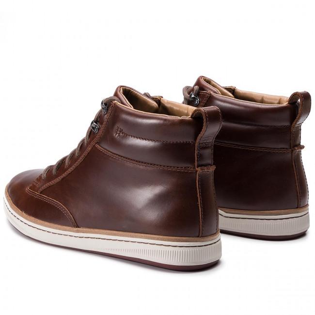 Boots CLARKS Norsen Mid 261278277 Dark Tan Leather