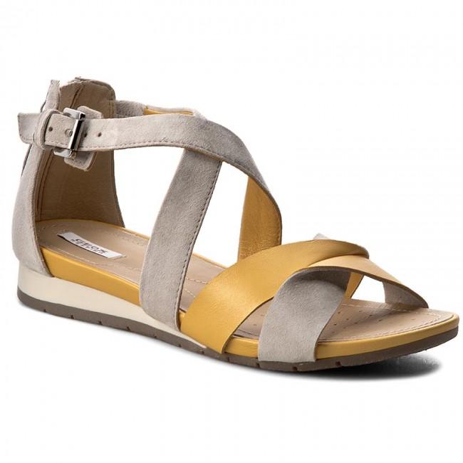 variedad de diseños y colores Venta caliente genuino venta oficial Sandals GEOX - D Formosa A D7293A 0BV21 C2G1L Dk Yellow/Lt Grey ...