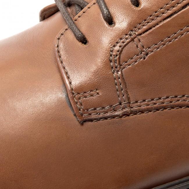 Shoes CLARKS Tilden Plain 261300977 Dark Tan Leather