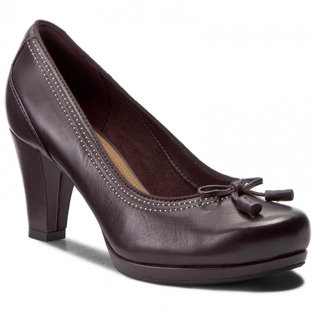 biggest selection limited style later Shoes CLARKS - Chorus Bombay 261290924 Aubergine Leather