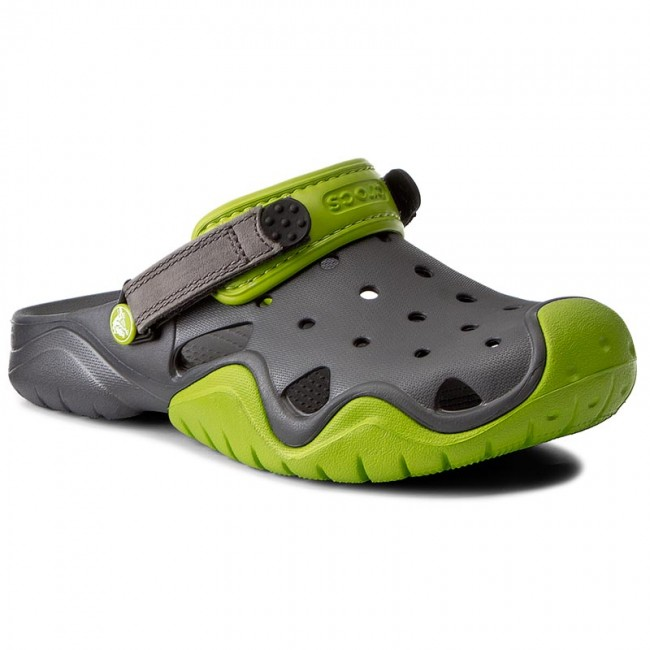 19d81f661fcee Slides CROCS - Swiftwater Clog M 202251 Volt Green/Graphite