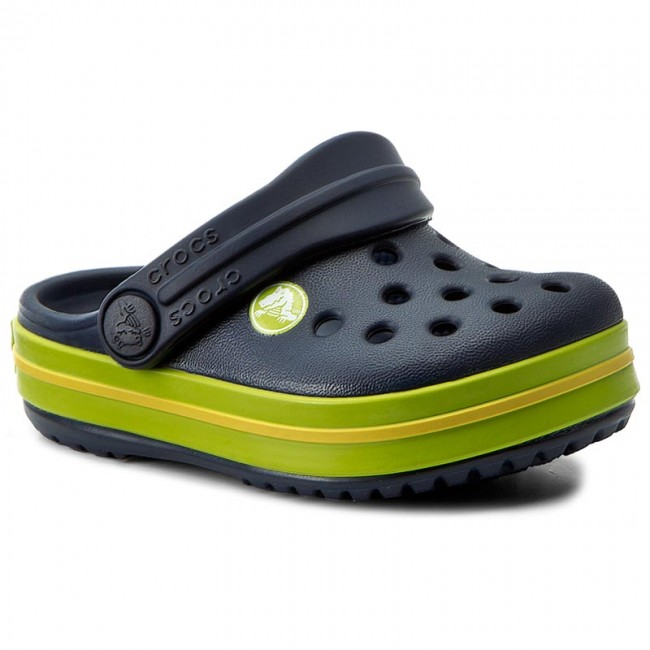 ae84a35e1028b Slides CROCS - Crocband Clog K 204537 Navy/Volt Green