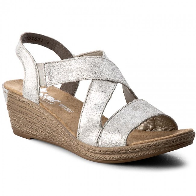 Rieker Silver Sandals for Women for sale | eBay