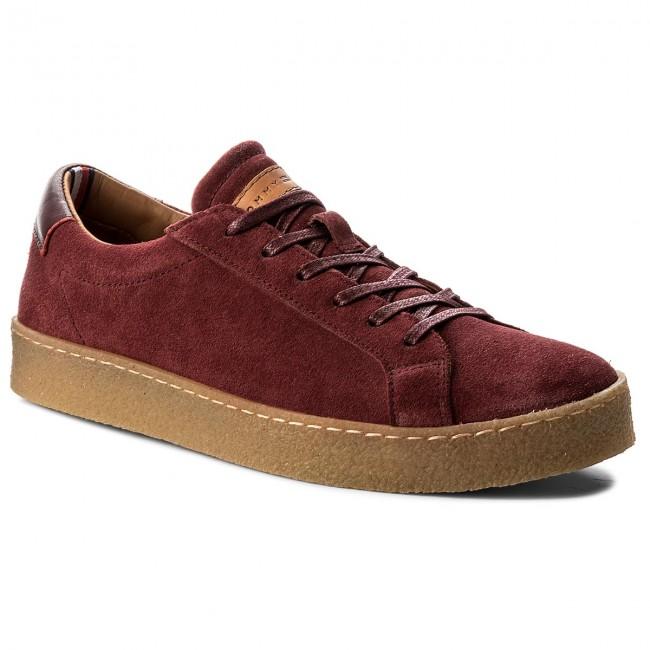86e4a2b020c Sneakers TOMMY HILFIGER - Logan 1B FM0FM00857 Burgundy 034