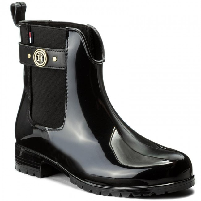 Navy Blue Oxley Tommy Hilfiger Ladies Rubber Wellies