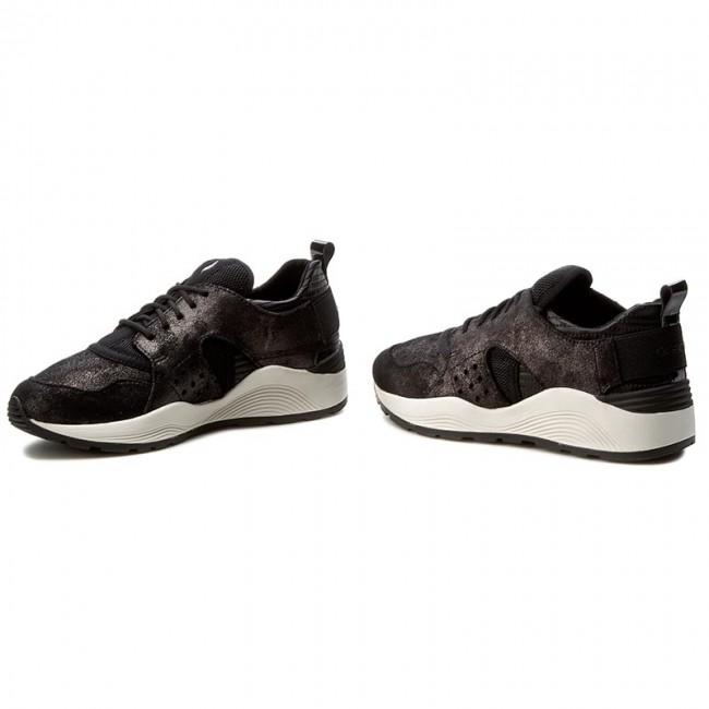 Sneakers GEOX D Omaya Plus A D642RA 0MABC C1223 GunBlack