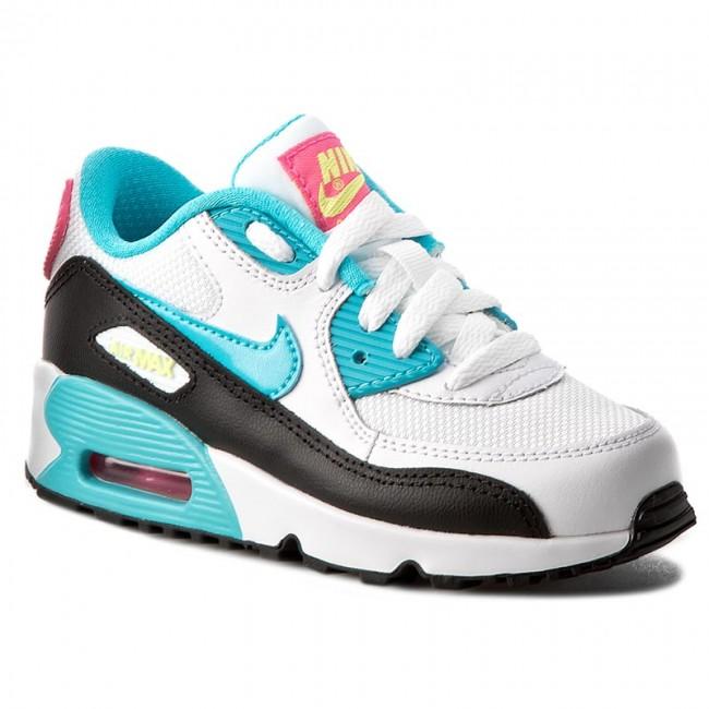 Shoes NIKE Air Max 90 Mesh (Ps) 833341 104 WhiteGmm BlPnk BlstGhst Grn