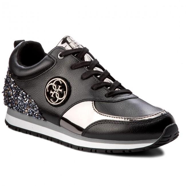 guess usa, guess sneakers reeta a logo noir femme chaussures