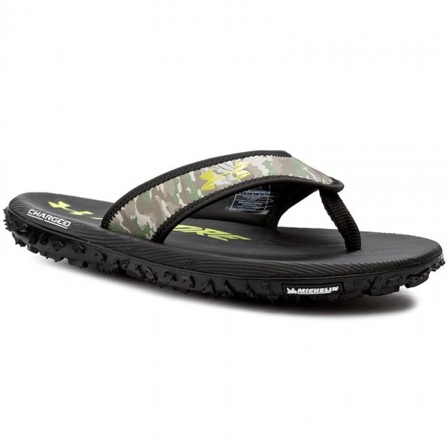 sports shoes 0e79d a2e58 Slides UNDER ARMOUR - Ua M Fat Tire T 1266210 Blk/Wht/Vel 002