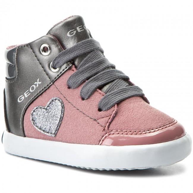 Sneakers GEOX B Gisli G. A B741MA 0AUAJ C8F9F Dk PinkDk Grey