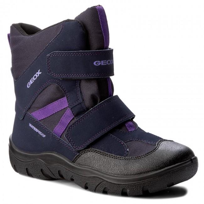 Snow Boots GEOX J Clady G. B Wpf A J745NA 05011 C4215 D NavyLilac