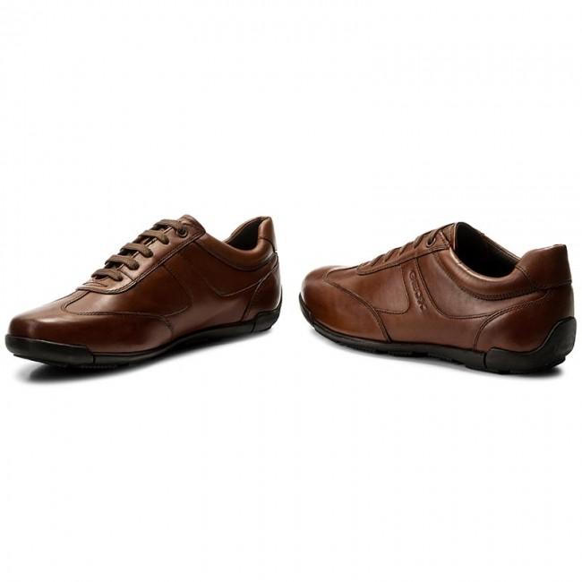 Detaillierung Fabrik schnüren in Sneakers GEOX - U Edgware B U743BB 043BC C6001 Cognac