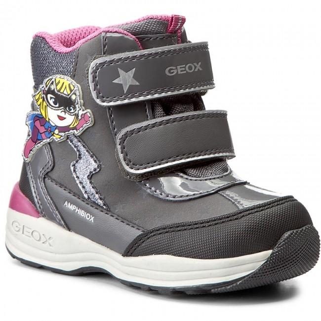 Snow Boots GEOX - B N.Gulp G.B Abx B B741FB 0BC50 C0062 Dk Grey/Black