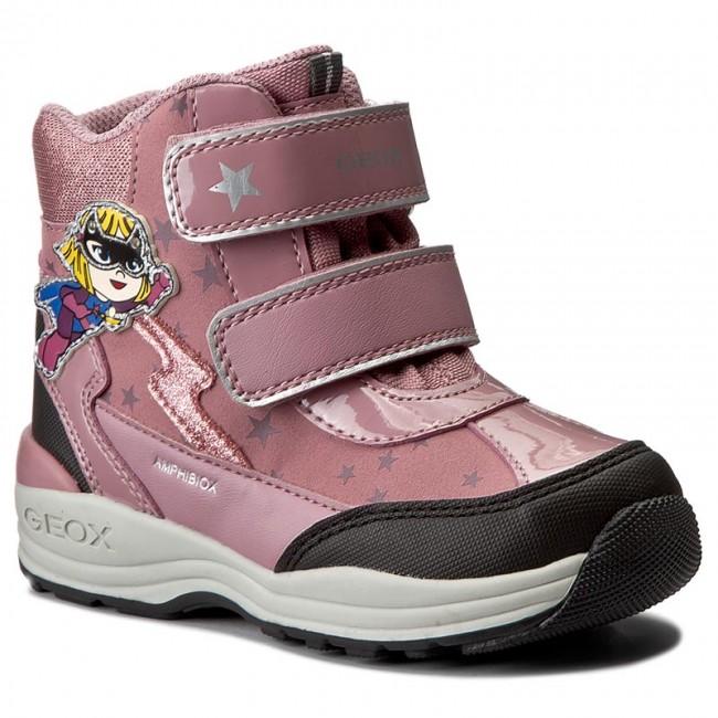 Snow Boots GEOX - B N.Gulp G.B Abx B B741FB 0BC50 C8F9B Dk Pink/Black