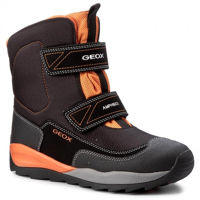 Kids Boots Geox ORIZONT Winter boots blackorange,geox