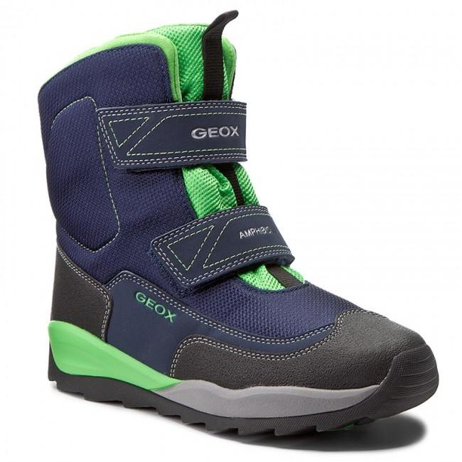 Snow Boots GEOX - J Orizont B B. Abx F J740BF 01150 C4248 D Navy/Green