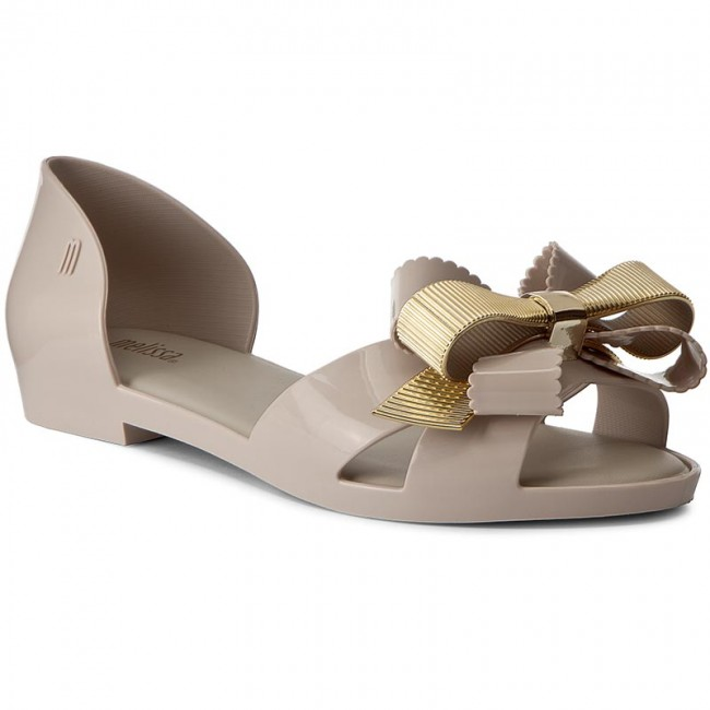 80cbed9e8f369 Sandals MELISSA - Seduction III Ad 31982 Beige/Gold 50803