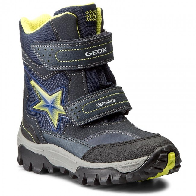 Snow Boots GEOX - J Lt Himalaya B Abx A J74E5A 0FUCE C0749 Navy/Lime