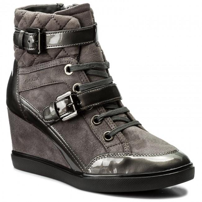 Sneakers GEOX D Eleni C D6467C 021HI C9002 Dk Grey ENlzF