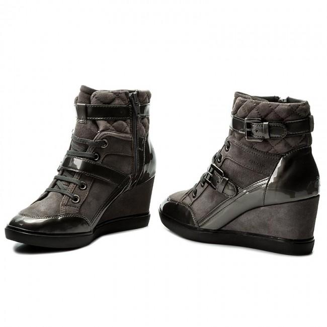 diseño atemporal 5a2ab ebc73 Sneakers GEOX - D Eleni C D6467C 021HI C9002 Dk Grey