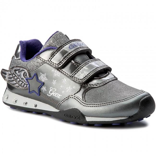 Shoes GEOX - J.N. Jocker G.A J74G2A 0AJAS C1009 Dk SIlver