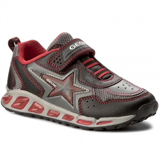 Shoes GEOX - J Shuttle B. B J7494B 0BU11 C0048 Black/Red