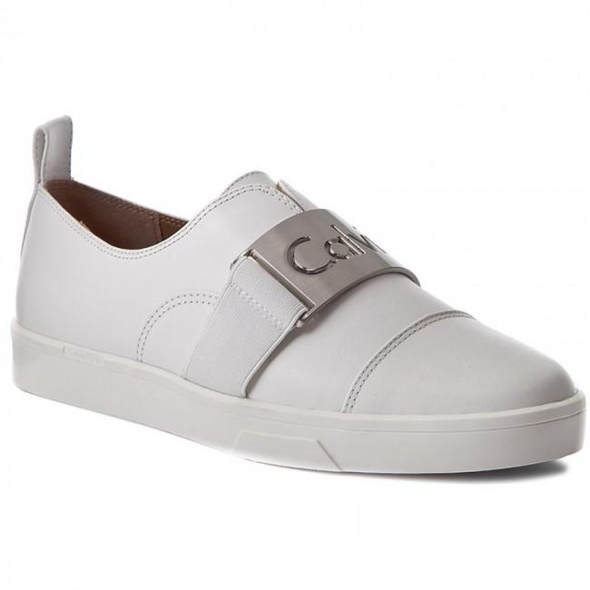 Plimsolls Calvin Klein Ilona E5681 Platinum White Sneakers Low Shoes Women S Shoes Efootwear Eu