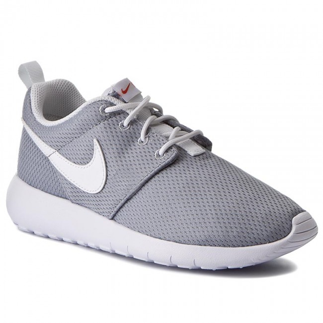 b838604f28b Shoes NIKE - Roshe One (GS) 599728 038 Wolf Grey/White/Safety Orange