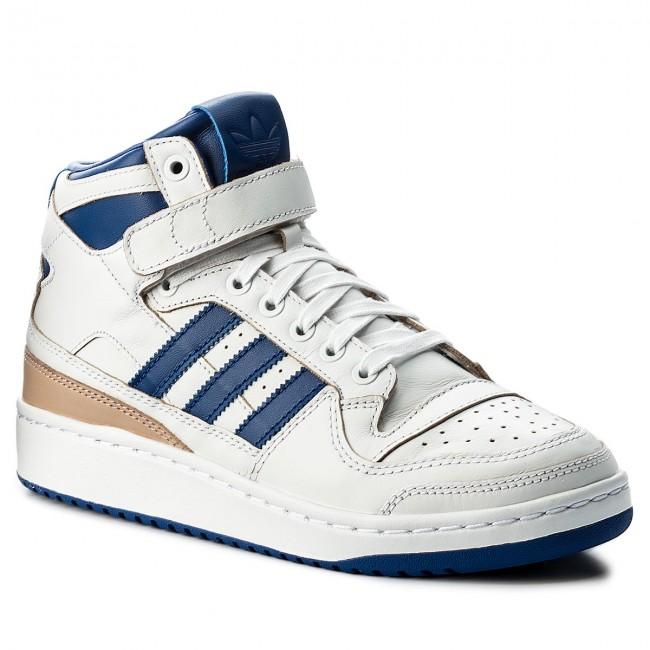 Shoes Adidas Forum Mid Wrap By4412 Ftwwht Croyal Ftwwht Sneakers Low Shoes Men S Shoes Efootwear Eu