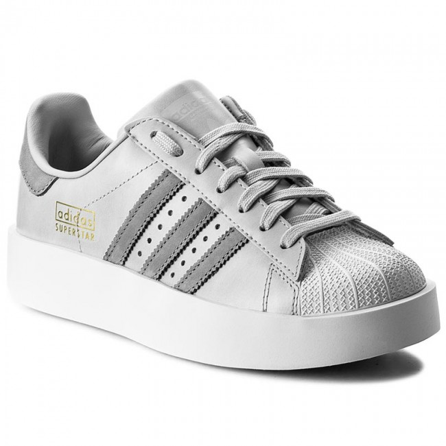 Kids Adidas Superstar Bold Black White