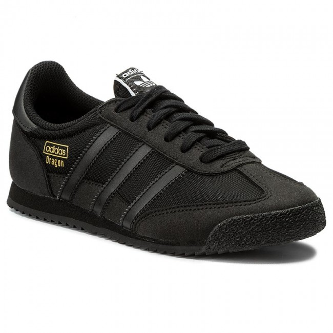 adidas dragon black leather