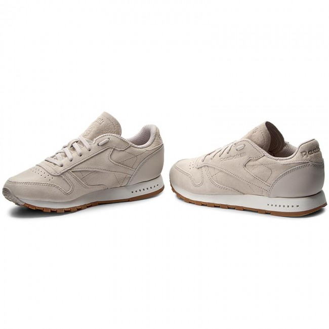 Shoes Reebok Cl Leather Sg BS7893 Sand StoneChalk Gum