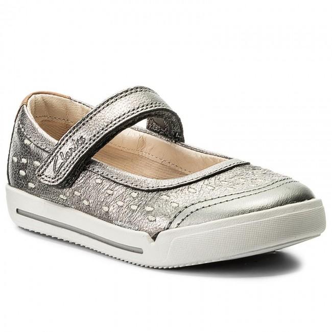 Clarks LilfolkLou Inf Girls Navy Shoe