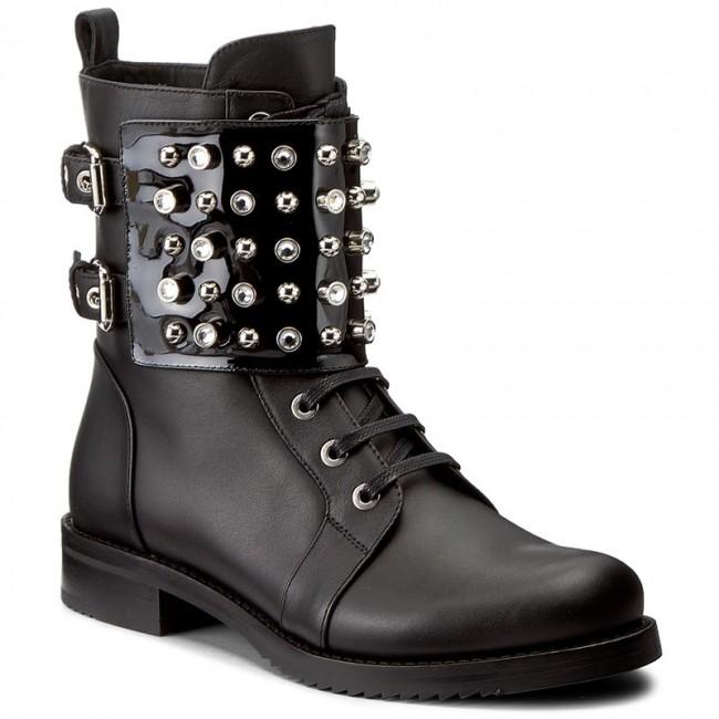 Boots LORIBLU - 8I K2T172 KK Vitello Nero/Vernice Nera
