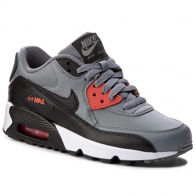 Shoes NIKE Air Max 90 Ltr (GS) 833412 010 Cool GreyBlackMax Orange