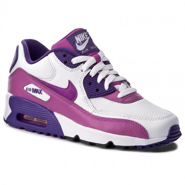 Shoes NIKE Air Max 90 Mesh (Gs) 833340 105 WhiteHypr VioletCrt PrplBlk