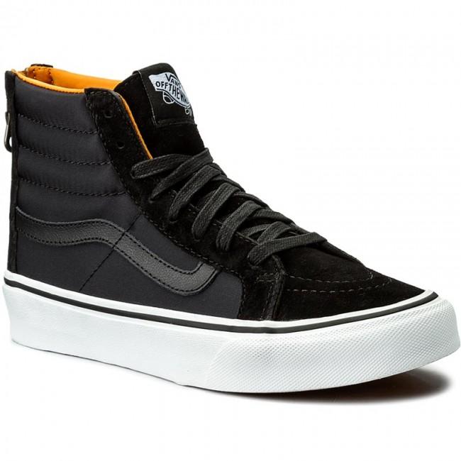 Sneakers VANS Sk8 Hi Slim Zip VN0A38GROC6 (Boom Boom) BlackTrue Wht