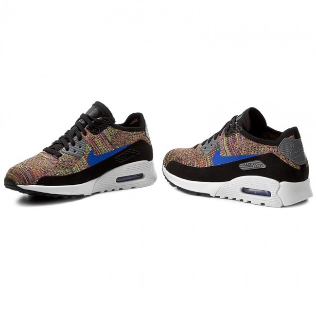 Shoes NIKE Air Max 90 Ultra 2.0 Flyknit 881109 001 BlackMedium BlueCool Grey