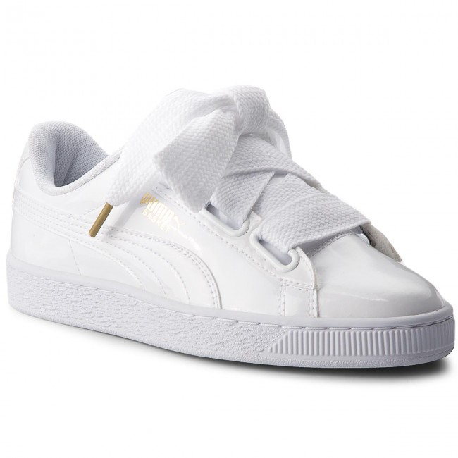 wholesale dealer 21987 24889 Sneakers PUMA - Basket Heart Patent 363073 02 Puma White/Puma White
