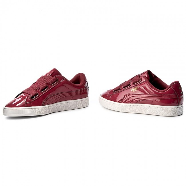 sneakers for cheap 4fbff af1e9 Sneakers PUMA - Basket Heart Patent Wn's 363073 05 Tibetan Red/Tibetan Red
