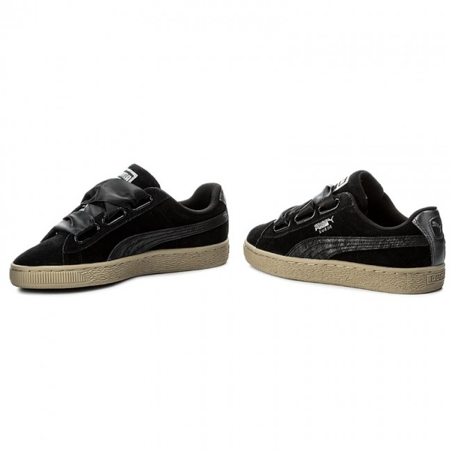 new arrival b4db1 fb71b Sneakers PUMA - Suede Heart Safari Wn's 364083 03 Puma Black/Puma Black