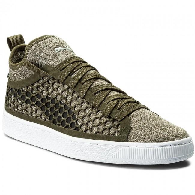Sneakers PUMA Basket Classic Netfit 364249 03 Olive NightPuma White