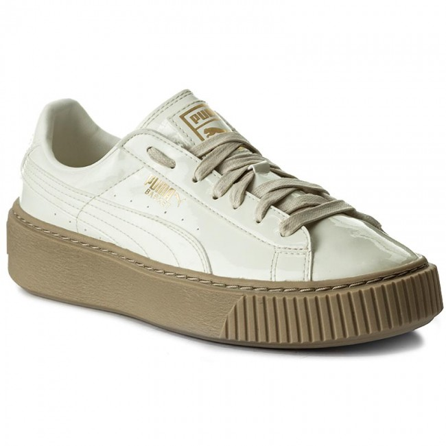 premium selection 7a00c a9f25 Sneakers PUMA - Basket Platform Patent Wn's 363314 05  Marshmallow/Marshmallow