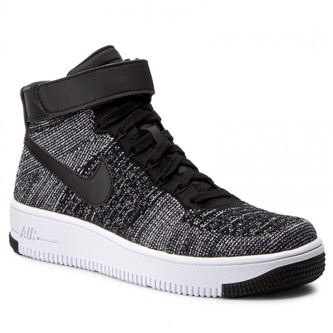 Shoes NIKE AF1 Ultra Flyknit Mid (GS) 862824 001 BlackBlackWhite
