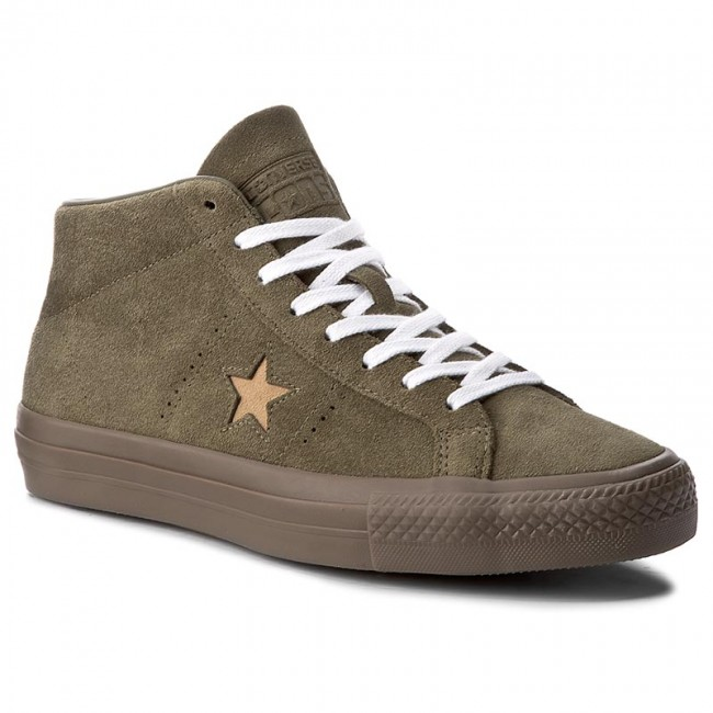 Sneakers CONVERSE One Star Pro Mid 157869C Medium OliveLight Fawn