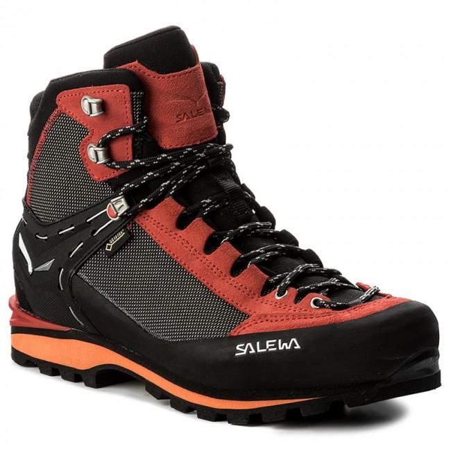 67b64bf5f04 Trekker Boots SALEWA - Crow Gtx GORE-TEX 61328-0935 Black/Papavero