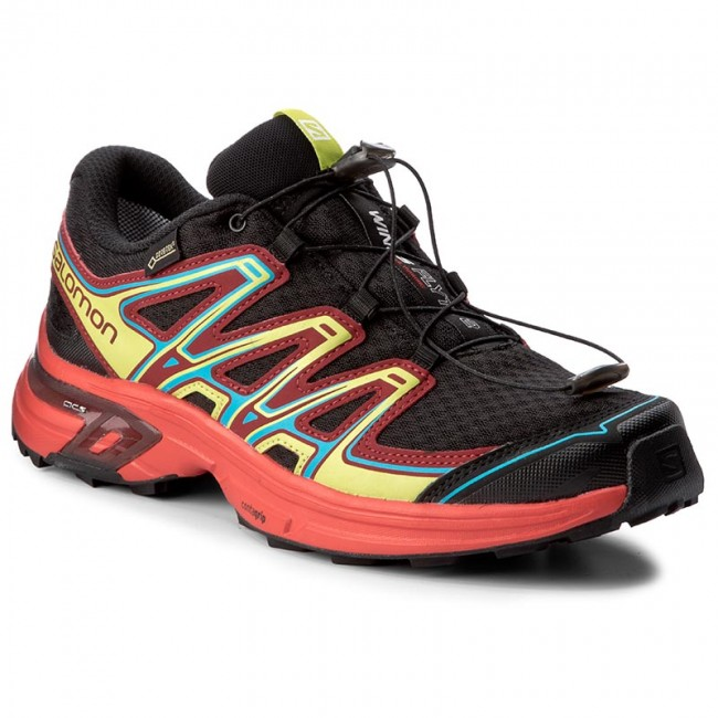 Shoes SALOMON Wings Flyte 2 Gtx GORE TEX 398482 27 W0 BlackFiery RedRed Dahlia