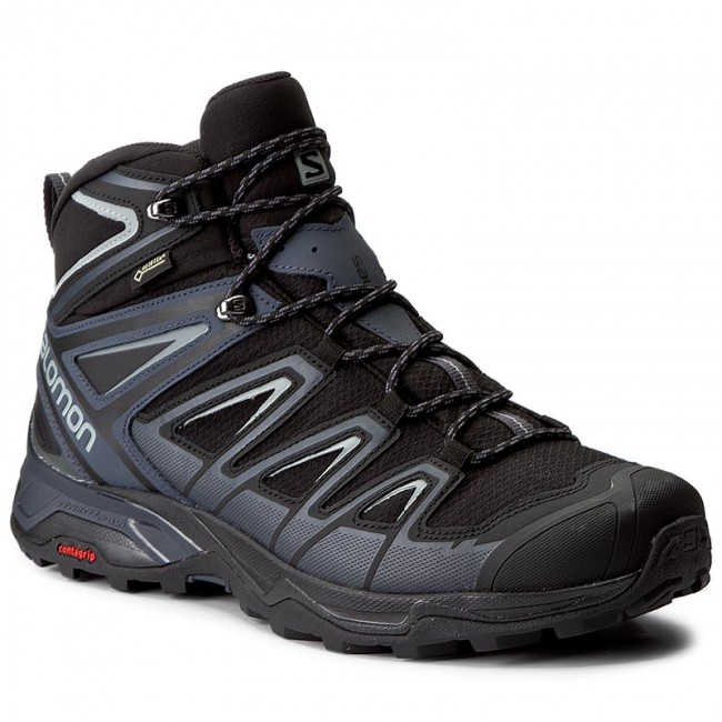 half off 15b66 e5a3d Trekker Boots SALOMON - X Ultra 3 Mid Gtx GORE-TEX 398674 33 V0 Black/India  Ink/Monument