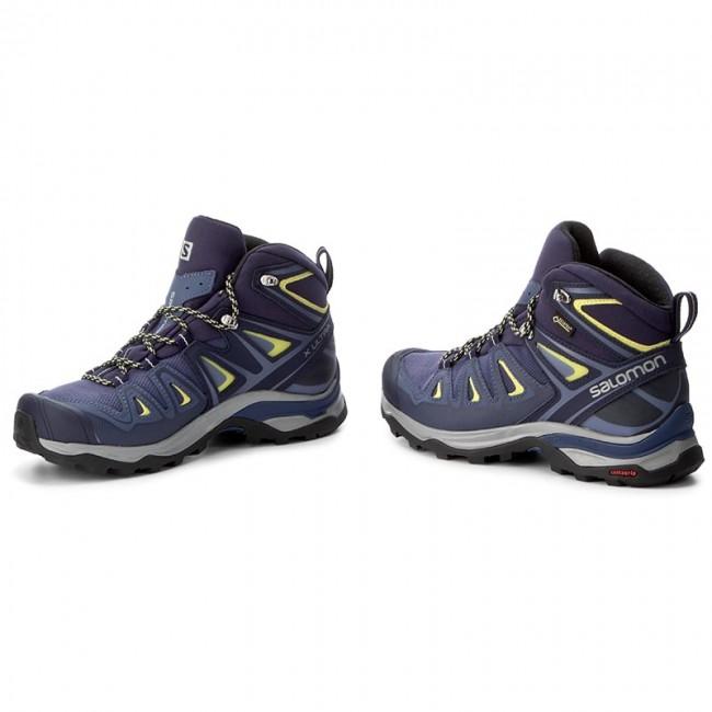Trekker Boots SALOMON X Ultra 3 Mid Gtx W GORE TEX 398691 22 V0 Crown BlueEvening BlueSunny Lime
